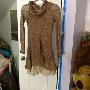 brown knitted dress